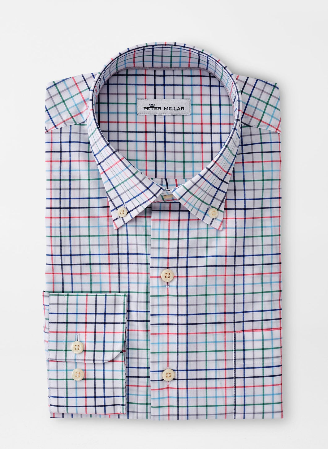 Peter Millar Simon Cotton-Blend Sport Shirt in Chili