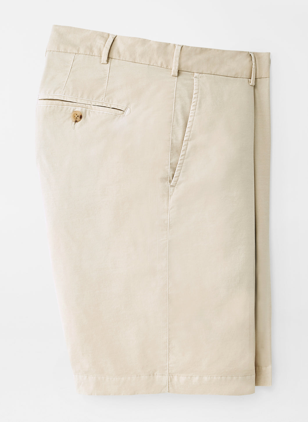 Peter Millar Poplin Cotton-Blend Short in Stone