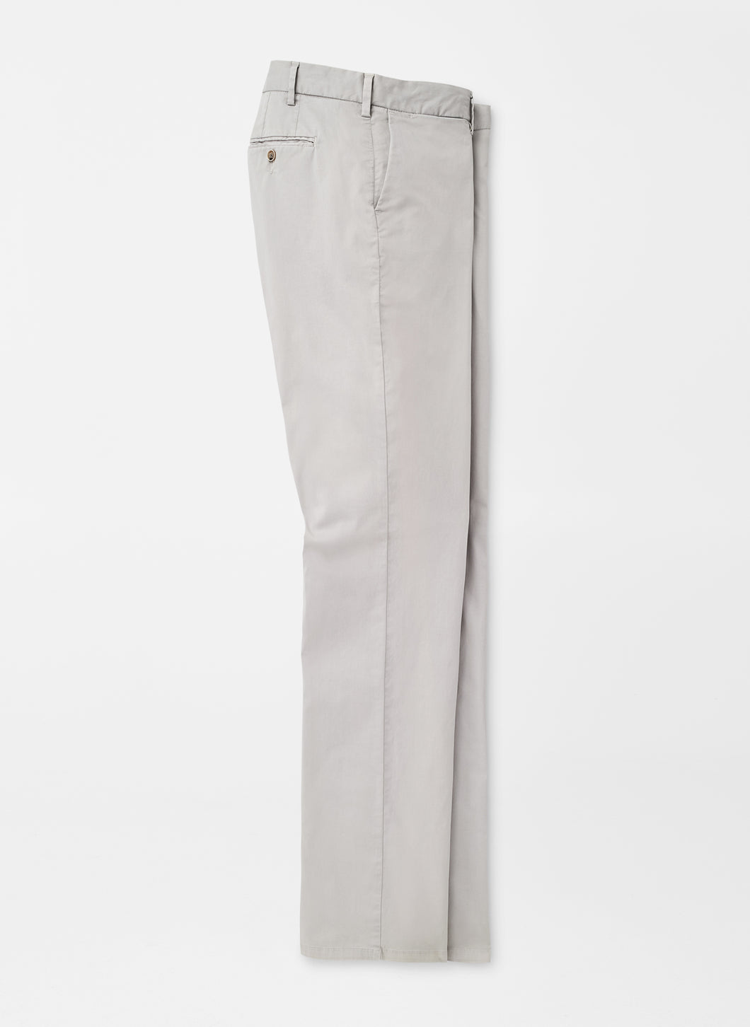 Peter Millar Crown Soft Flat Front Trouser in British Grey