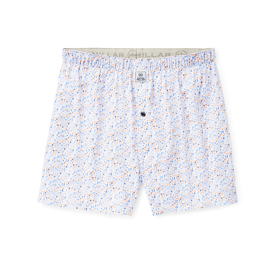 Peter Millar Carroll Performance Boxer in White