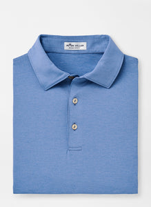 Peter Millar Solid Performance Polo in Lake Blue