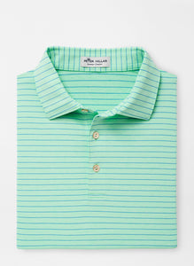 Peter Millar Crafty Stripe Performance Polo in Yucca