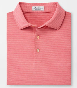 Peter Millar Halford Performance Polo in Red Ginger