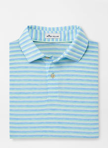 Peter Millar drirelease ® Natural Touch Striped Polo in Cottage Blue