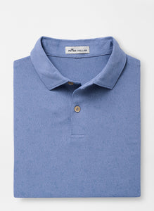 Peter Millar Palm Performance Jacquard Polo in Lake Blue