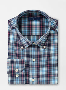 Peter Millar Adderly Natural Touch Sport Shirt in Navy