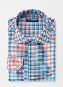 Peter Millar Hubbard Performance Sport Shirt in Cannes Blue