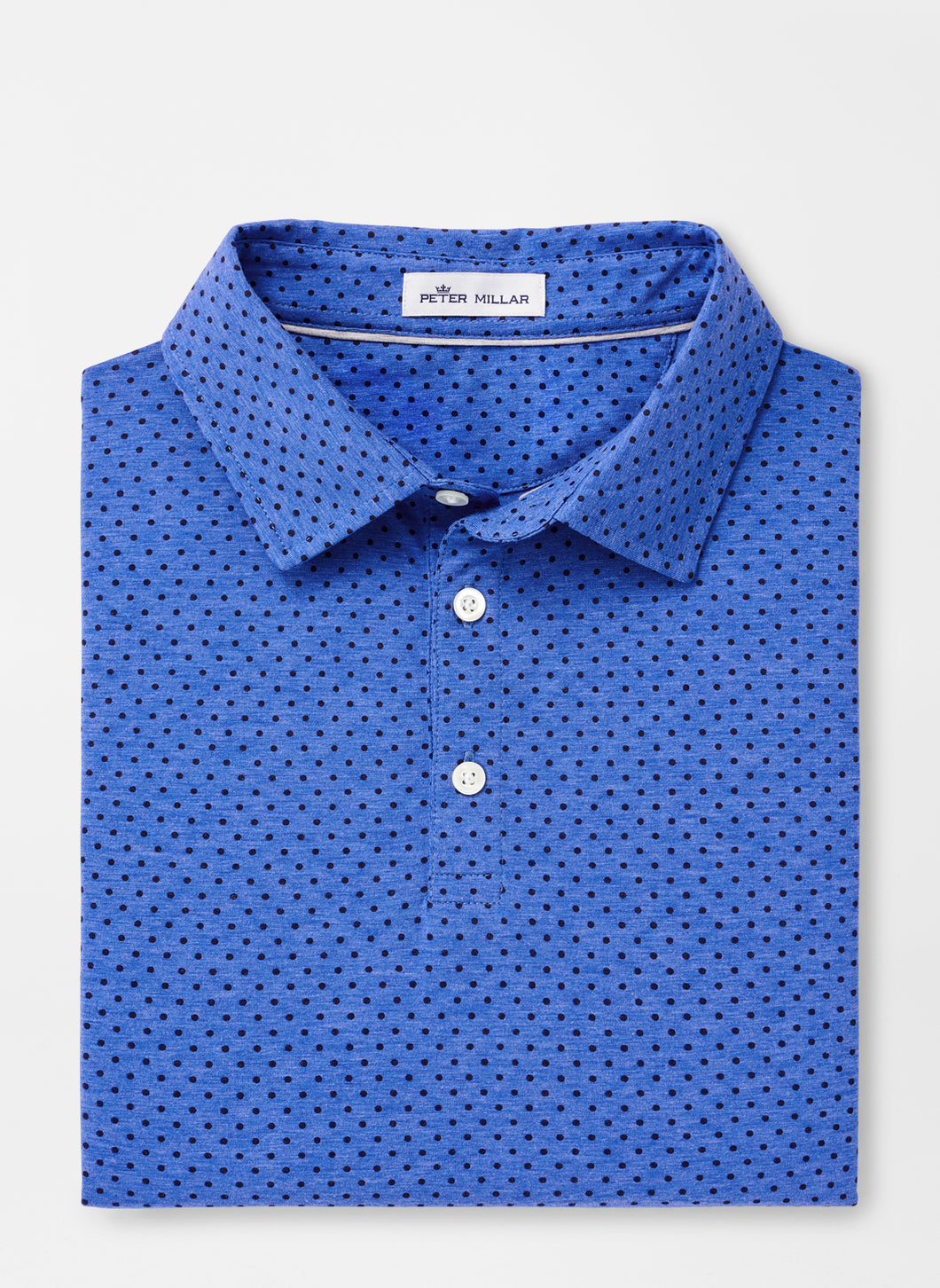 Peter Millar Crown Soft Dot Polo in Blue Lapis