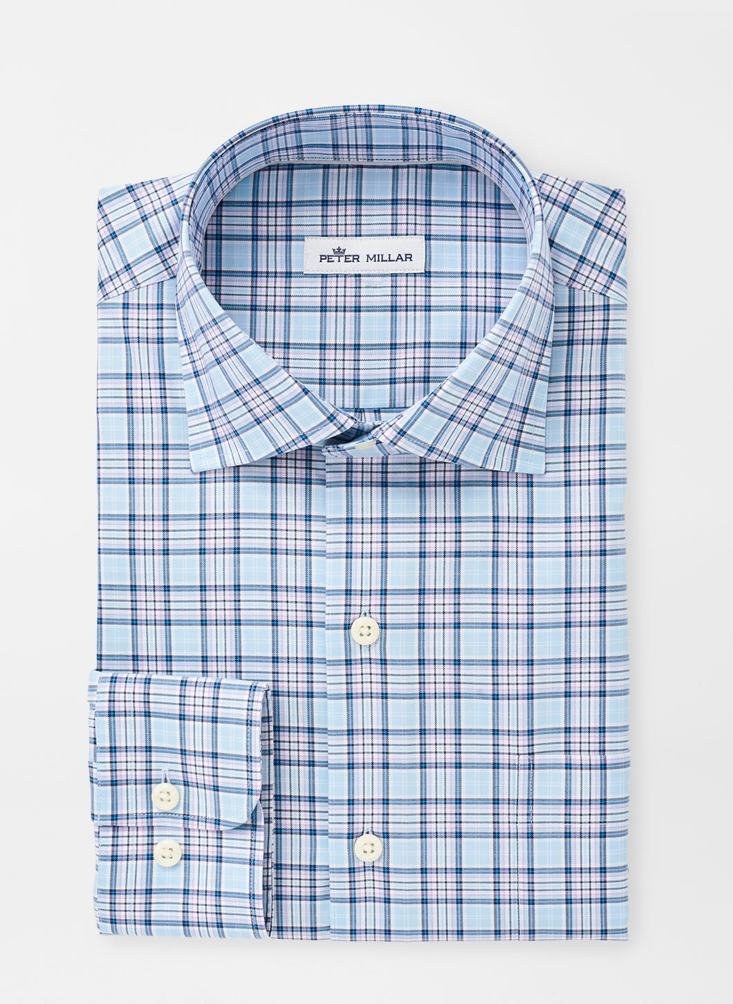 Peter Millar Crown Ease Perry Sport Shirt in Skylight