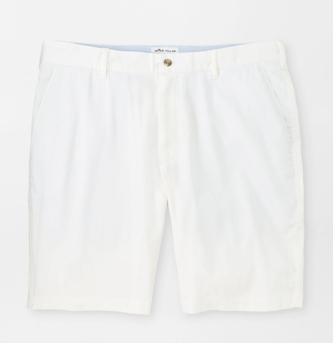 Peter Millar Bedford Cotton-Blend Short in White Sand