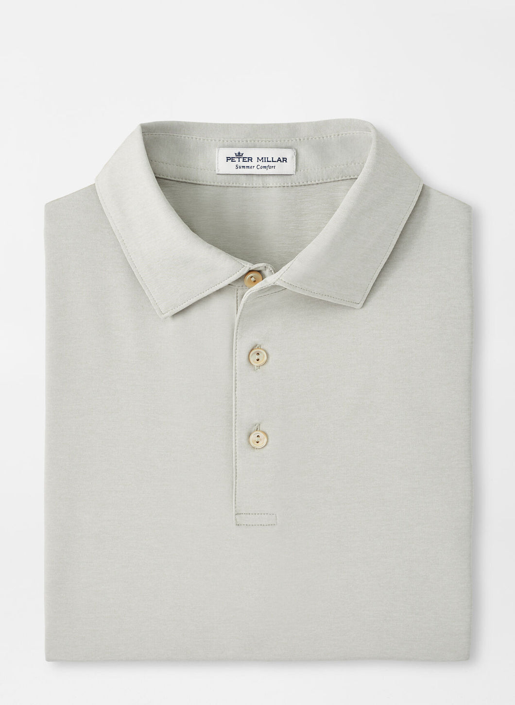 Peter Millar Solid Performance Polo in British Grey