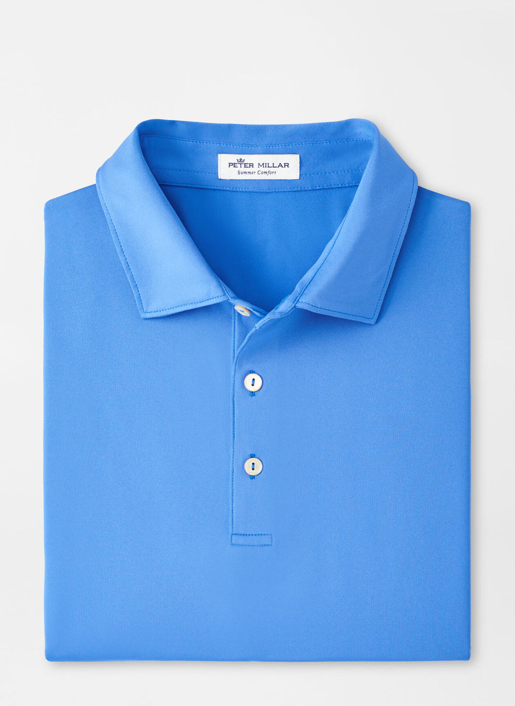 Peter Millar Solid Performance Polo in Blue River
