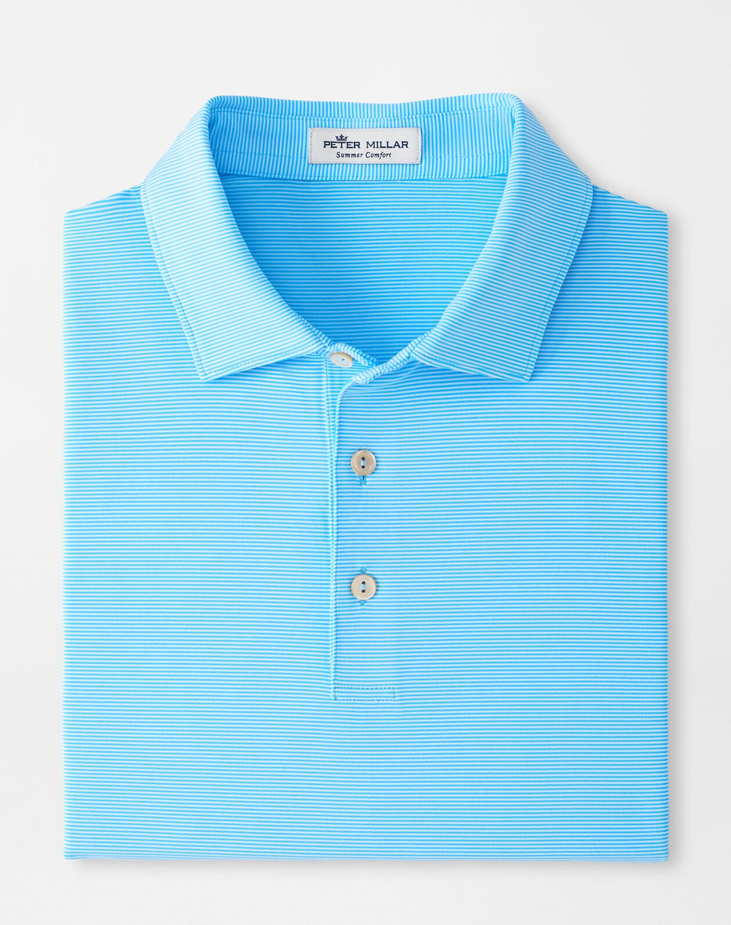 Peter Millar Jubilee Stripe Performance Polo in Wave Break
