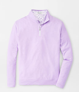 Peter Millar Melange Perth Performance Pullover in Petal Purple