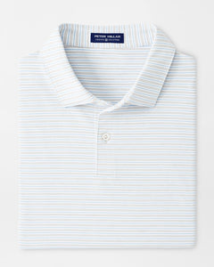Peter Millar Music Performance Jersey Polo in British Grey
