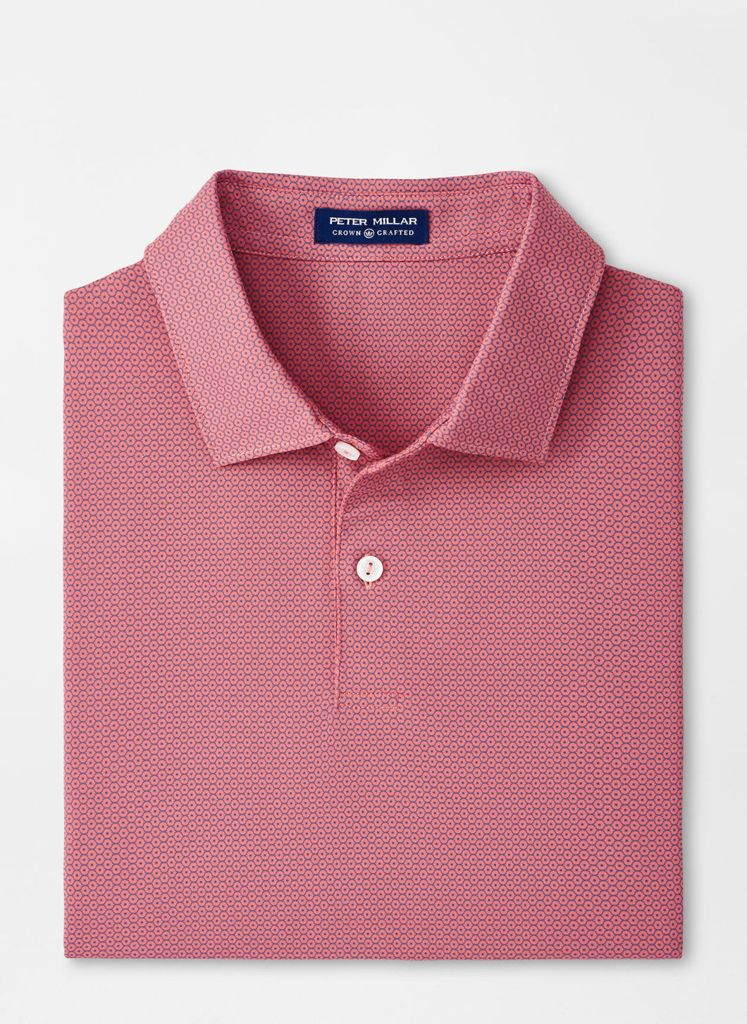 Peter Millar Dandy Performance Jersey Polo in French Tulip