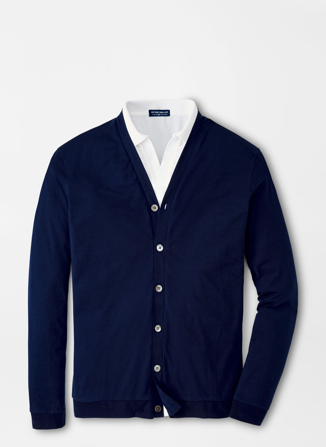 Peter Millar Crown Crafted Cardigan in Navy