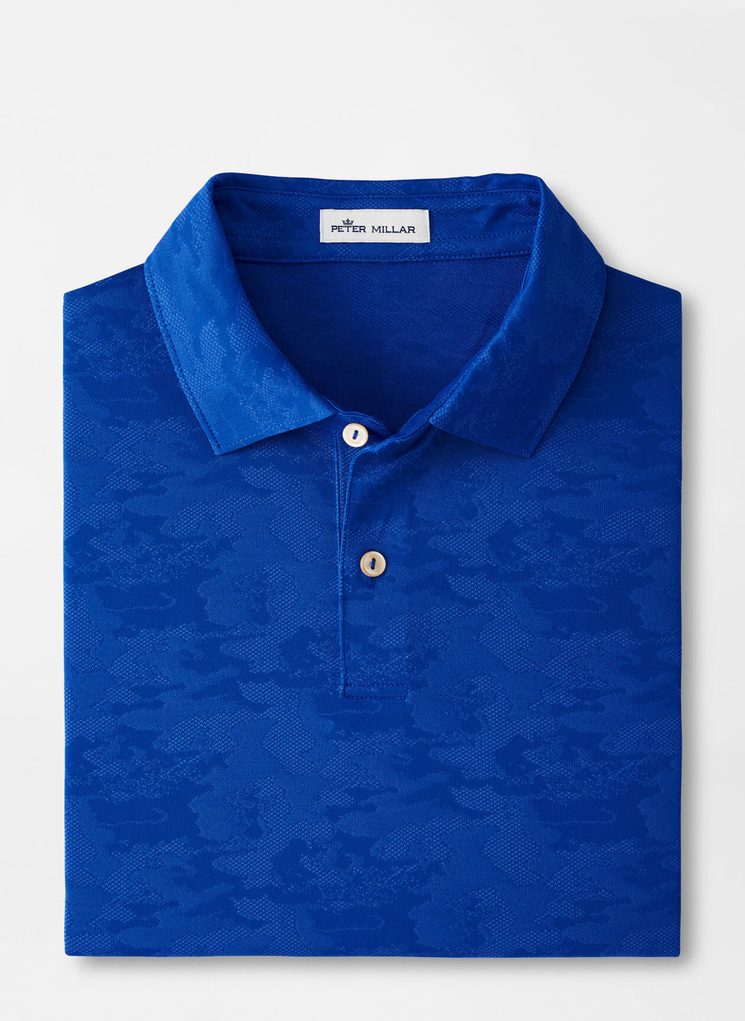Peter Millar Carl Distressed Camo Performance Jacquard Polo in Deep Ocean