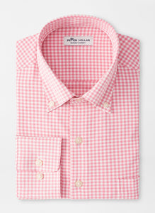 Peter Millar Willie Performance Sport Shirt in Pink Caliente