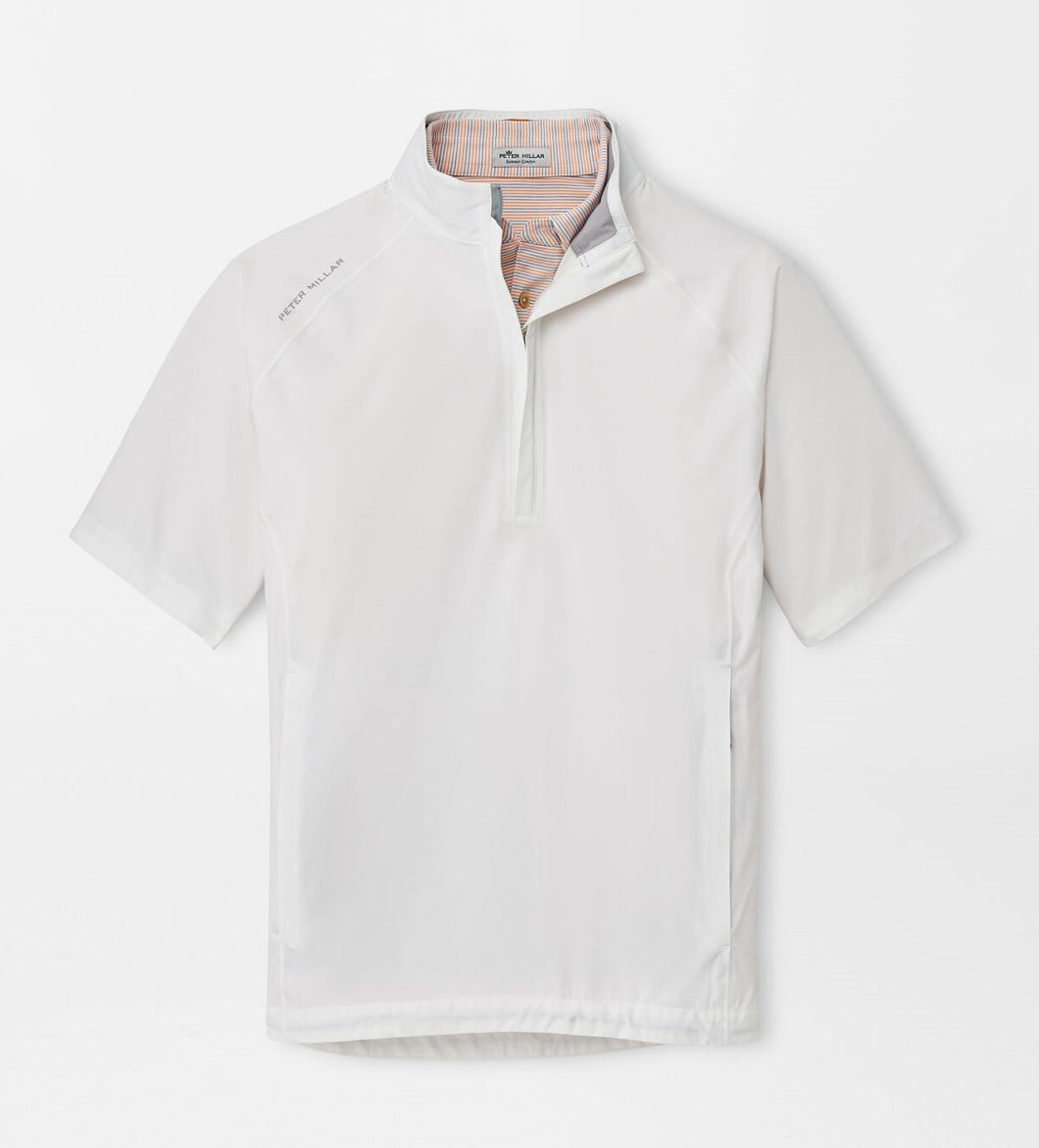 Peter Millar Hyperlight Shield Short-Sleeve Half Zip in White