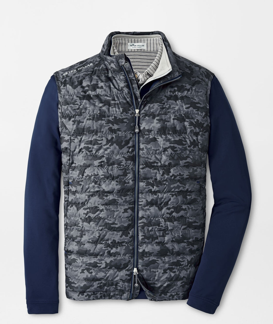 Peter Millar Camo Hyperlight Quilted Vest in Iron