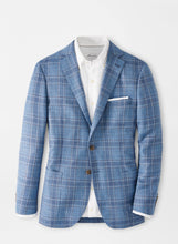 Load image into Gallery viewer, Peter Millar Riverside Plaid Soft Jacket in Blue Sea