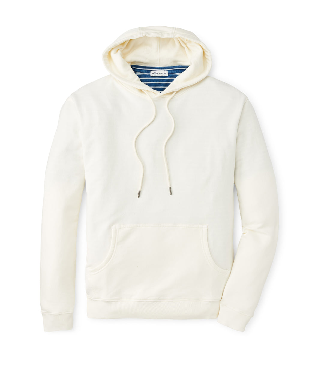 Peter Millar Lava Wash Cotton-Blend Hoodie in Salt Water Taffy