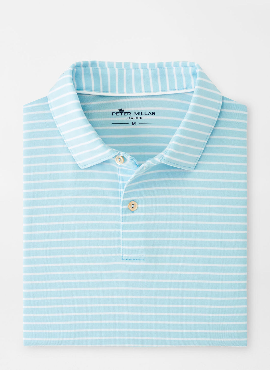 Peter Millar Seaside drirelease® Natural Touch Stripe Polo in Bayside Blue