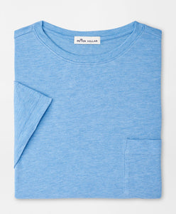 Peter Millar Summer Soft Pocket Tee in Coastal Blue