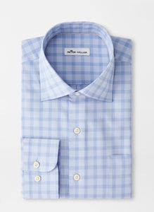 Peter Millar Crown Ease Cooper Sport Shirt in Cottage Blue