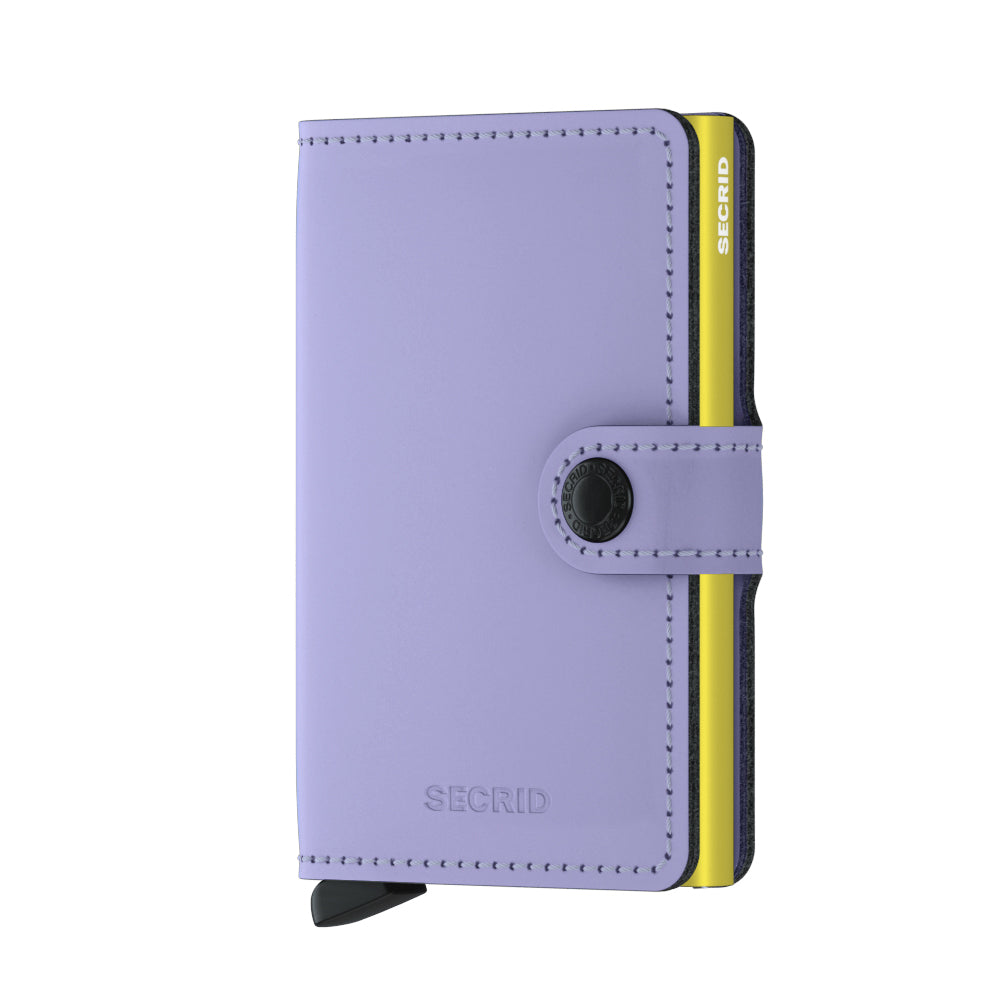 Secrid Mini Matte Wallet in Lilac