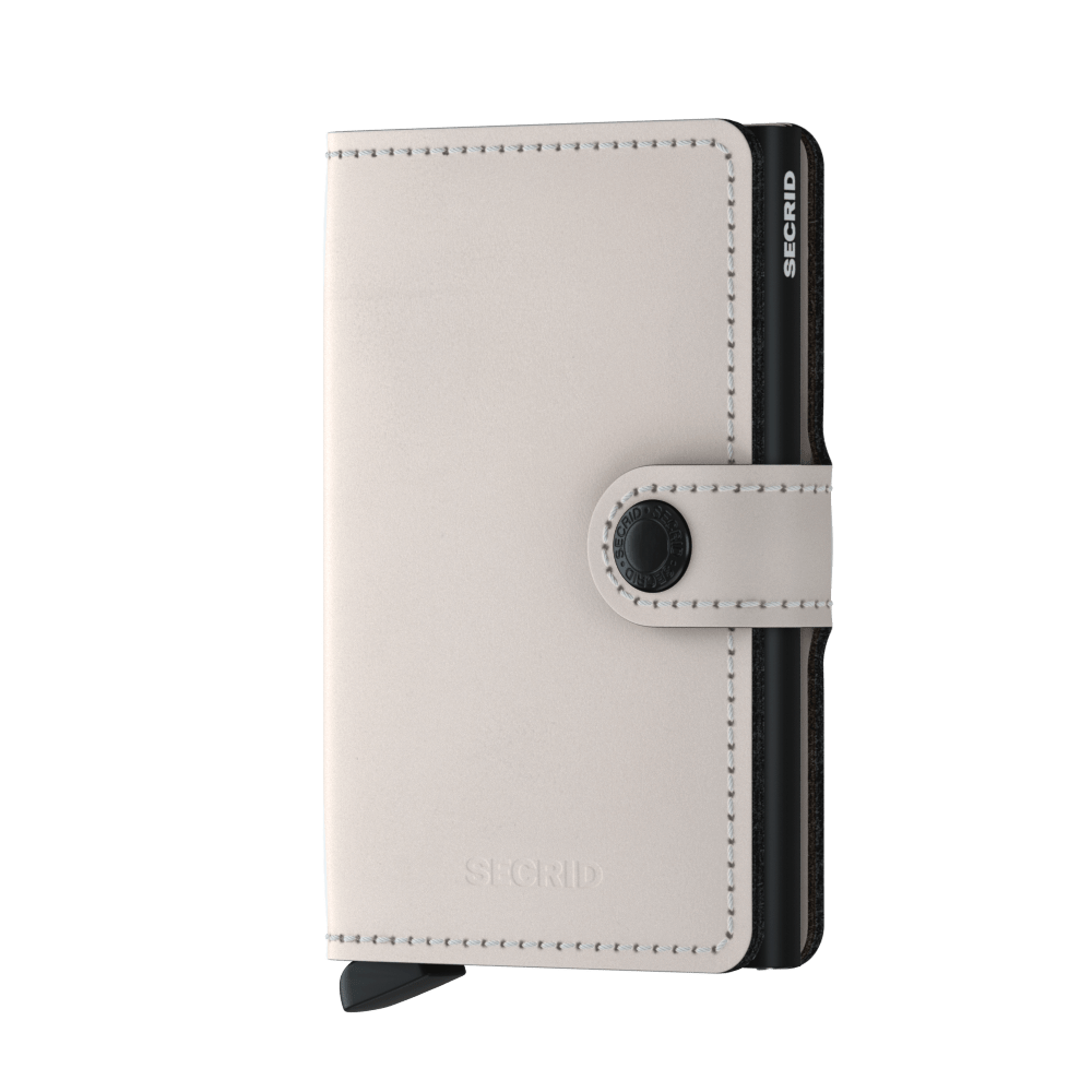 Secrid Mini Matte Wallet in Chalk