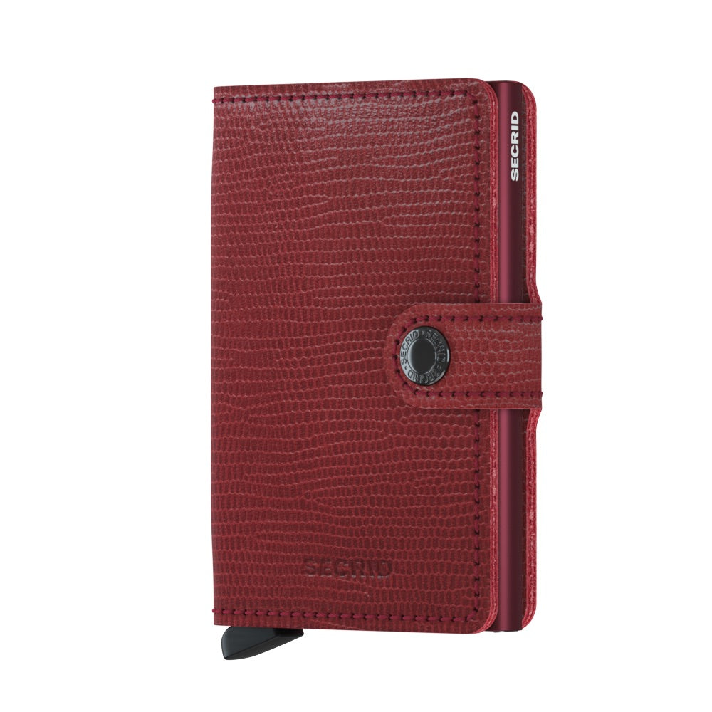 Secrid Mini Rango Wallet in Red-Bordeaux