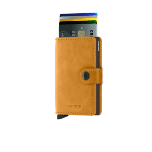 Secrid Mini Vintage Wallet in Ochre