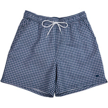 Load image into Gallery viewer, Onward Reserve Atlantic Swimwear Gingham in Navy/Lilac