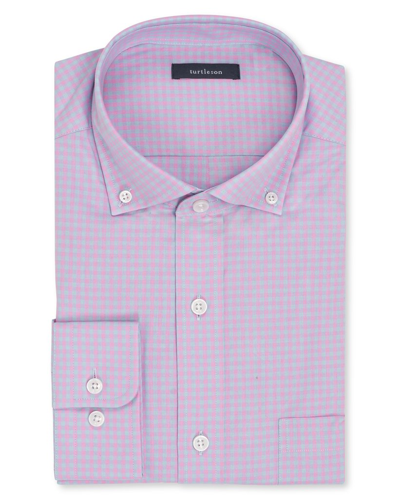 Turtleson Sullivan Gingham Sport Shirt in Orchid