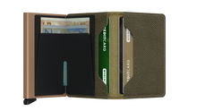 Load image into Gallery viewer, Secrid Slim Saffiano Wallet in Olive