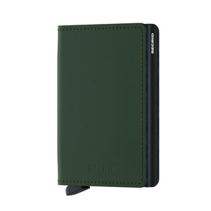 Secrid Slim Matte Wallet in Green