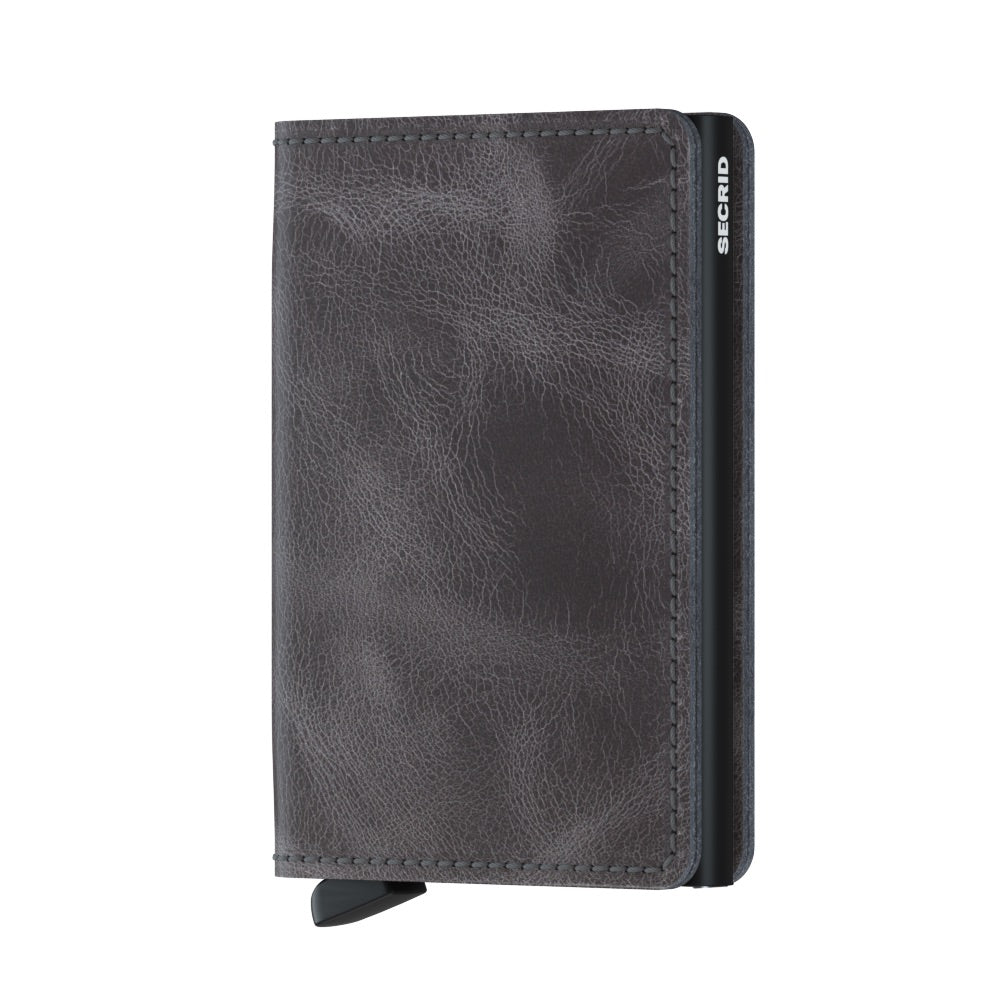 Secrid Slim Vintage Wallet in Grey-Black