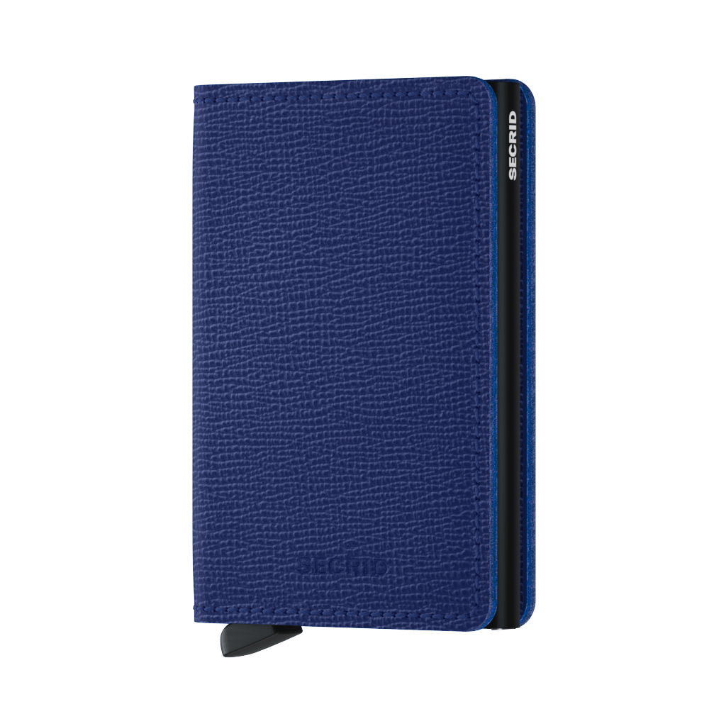 Secrid Slim Crisple Wallet in Blue