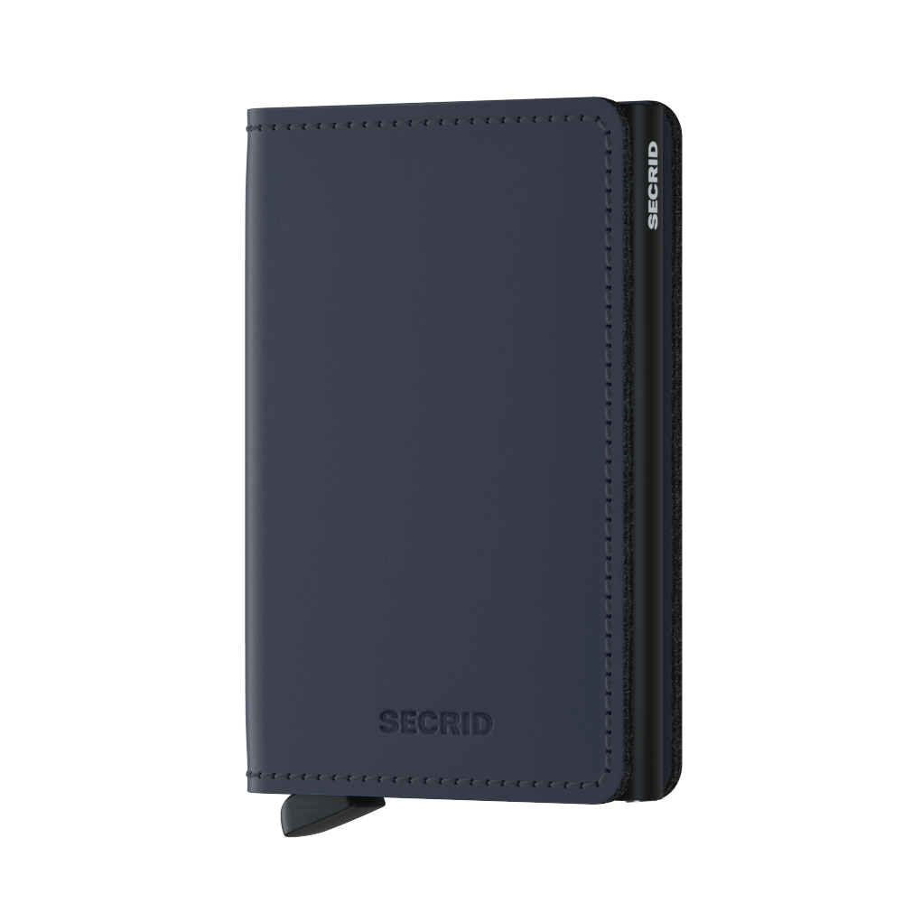 Secrid Slim Matte Wallet in Night Blue