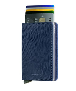 Secrid Slim Rango Wallet in Blue Titanium