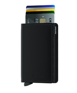 Secrid Slim Matte Wallet in Black