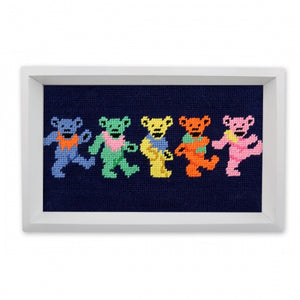 Smathers & Branson Dancing Bears Needlepoint Valet Tray