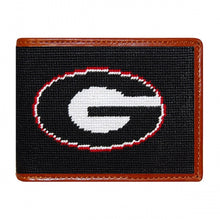 Load image into Gallery viewer, Smathers & Branson Georgia Needlepoint Bi-Fold Wallet in Black