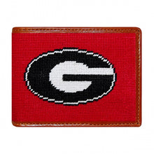 Load image into Gallery viewer, Smathers & Branson Georgia Needlepoint Bi-Fold Wallet in Red