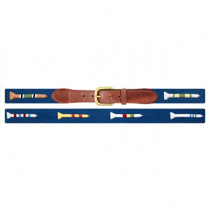 Smathers & Branson Golf Tees Needlepoint Belt