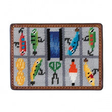Load image into Gallery viewer, Smathers & Branson Tackle Box Needlepoint Card Wallet
