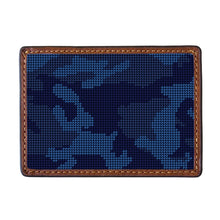 Load image into Gallery viewer, Smathers & Branson Navy Camo Needlepoint Card Wallet