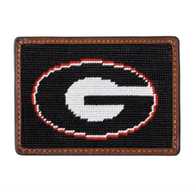 Load image into Gallery viewer, Smathers & Branson Georgia Needlepoint Card Wallet in Black